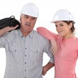 A couple of electrician. — Stock Photo