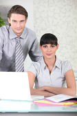 Smart young business — Stock Photo