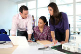 Colleagues at work — Stock Photo
