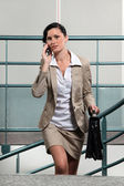 Busy businesswoman between meetings — Stock Photo