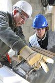 Construction apprentice — Stock Photo