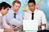 Männer in business-training — Stockfoto