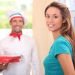 Home pizza delivery — Stock Photo #9721048