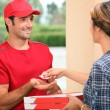 Stock Photo: Pizza delivery