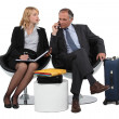 Two business waiting — Stock Photo