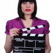 Brunette movie director — Foto Stock #9722011