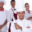 Restaurant staff — Foto de stock #9723303