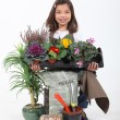 Portrait of a young florist — Stock Photo
