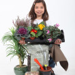 Stock Photo: Portrait of young florist