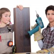 Stockfoto: Children dressed as carpenters