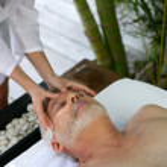 Man having a massage — Stock Photo #9728484