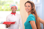Home pizza delivery — Stock Photo