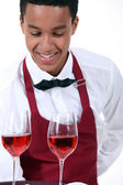 Wine waiter — Stock Photo
