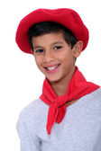 Child with red beret — Stock Photo