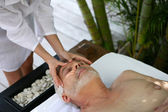 Man having a massage — Stock Photo