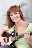 Woman with Guitar — Stock Photo