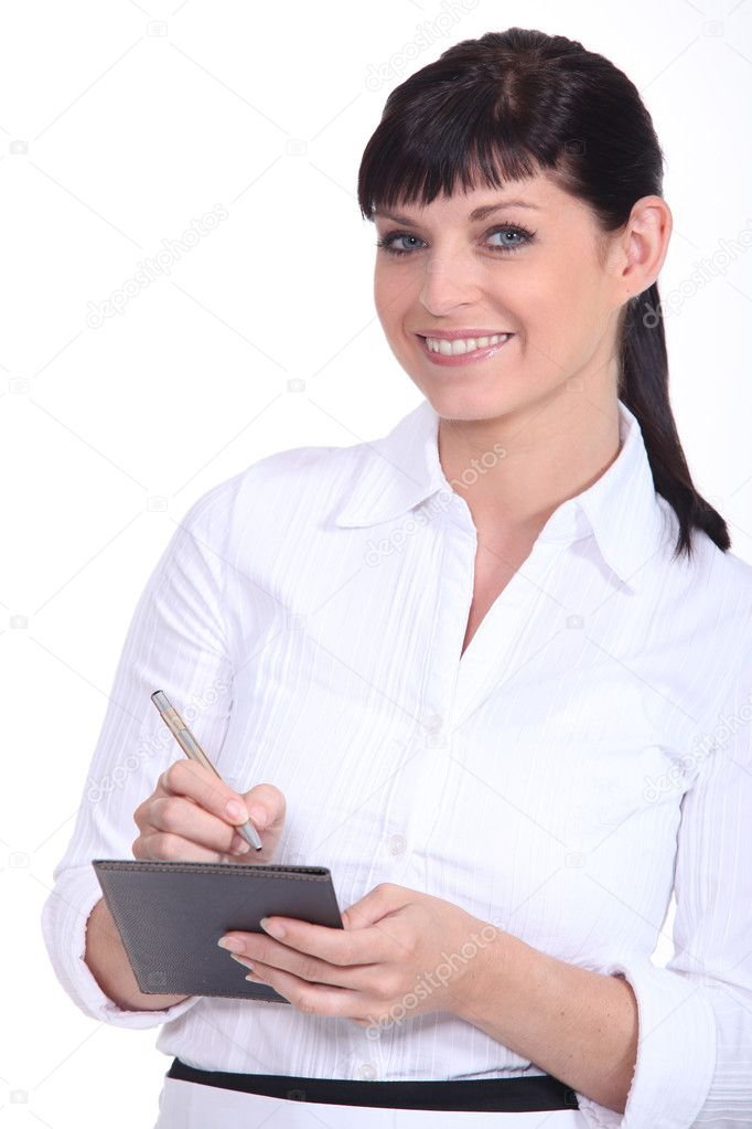 Waitress writing order — Stock Photo #9720707