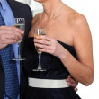 Couple celebrating - Stock Photo