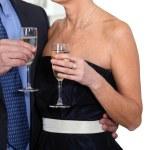 Couple celebrating — Stock Photo
