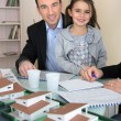 Father and daughter in architect firm — Stock Photo #9741286