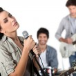 Music band performing — Stock Photo #9742395