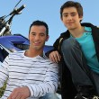 Stock Photo: Fondness for motorcycles