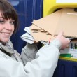 Young postwoman — Stock Photo