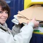 Young postwoman — Stock Photo
