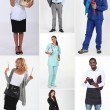 Montage of various professions — Stock Photo