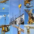 Montage on crane — Stock Photo