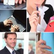 Stock Photo: Montage of office life