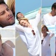 Various shots of a couple on the beach — Stock Photo #9749725