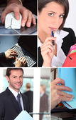 Montage of office life — Stock Photo
