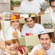 Couple having a healthy breakfast — Stock Photo