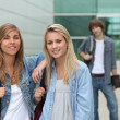 College students on campus — Stock Photo #9752005