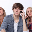Teens with mobile — Stock Photo #9752167