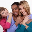 Portrait of three cheerful girls — Stock Photo #9753295