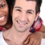 Happy interracial couple — Stock Photo