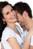 Couple laughing together — Stock Photo