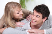 Moment of complicity — Stock Photo