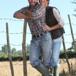Young couple of farmers - Photo