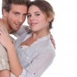 Landscape picture of couple embracing — Stock Photo #9765674