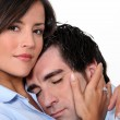 Couple in love cuddling — Stock Photo #9765970