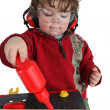 Little boy playing builder — Stock Photo #9766241
