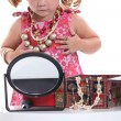 Girl dressing-up - Stok fotoğraf