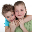 Portrait of brother and sister — Stock Photo #9767119