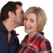 Stock Photo: Surprise kiss