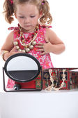 Girl dressing-up — Stock Photo