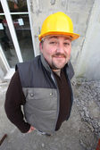 Builder on a construction site — Stock Photo