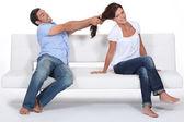Walki między mężczyzną i kobietą — Zdjęcie stockowe